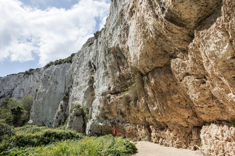 Dream walls climbing crag mgarr ix xini gozo