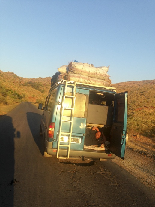 madagascar bus on road