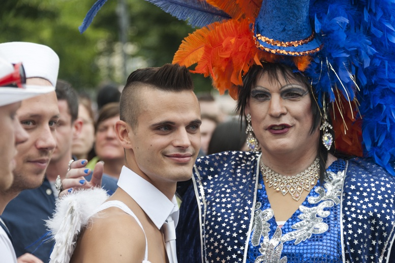 Berlin CSD drag queen and boy
