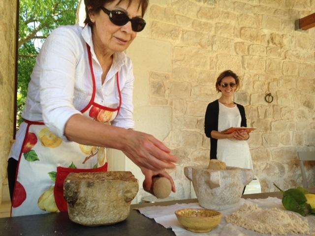 cooking class sicily Pina