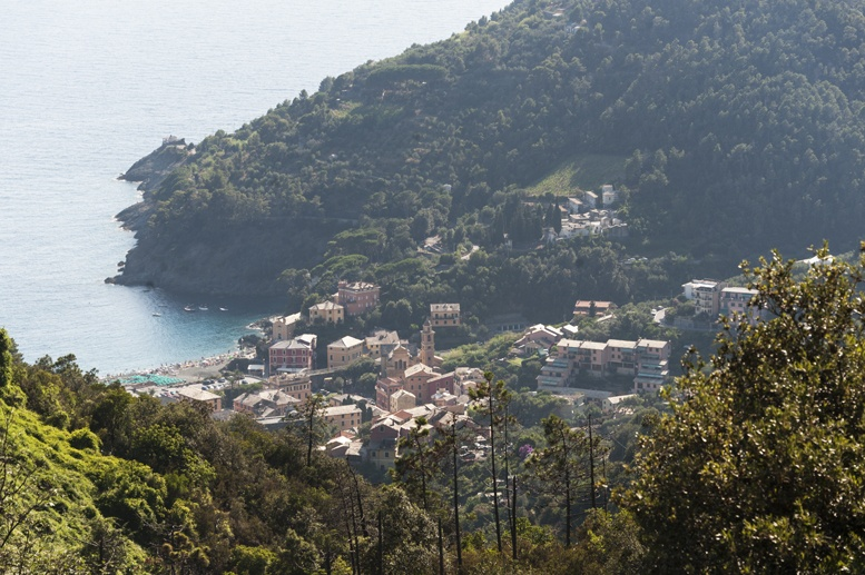 bonassola view from hills