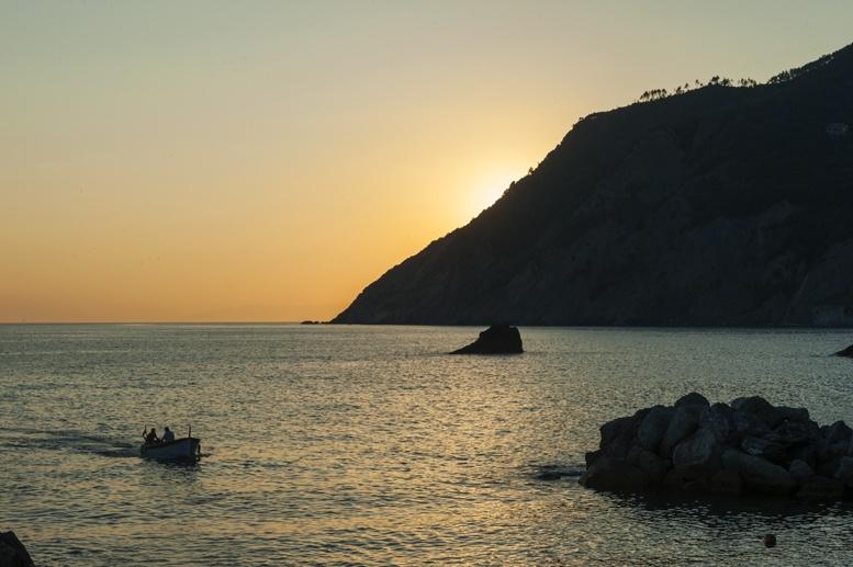 framura harbor sunset