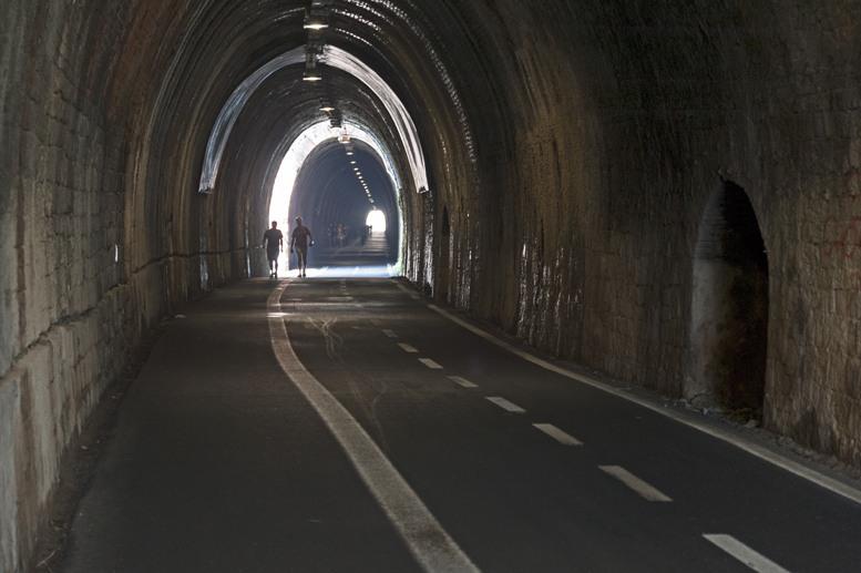 dark railway tunnel framura