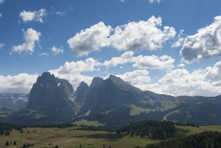 dolomites meadow clouds