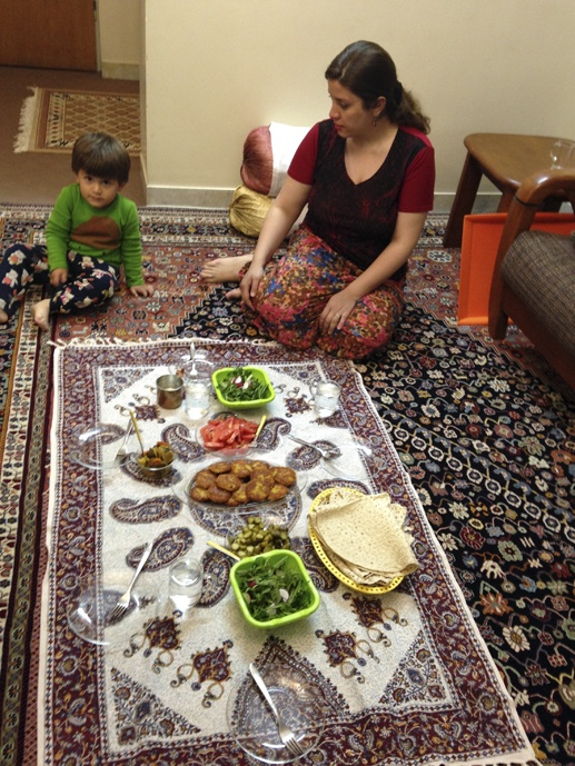 vegetarian meal family iran