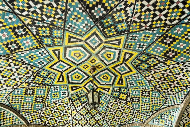 iran gollestan palace mosaic