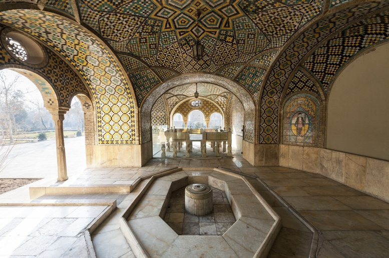 tehran gollestan palace fountain