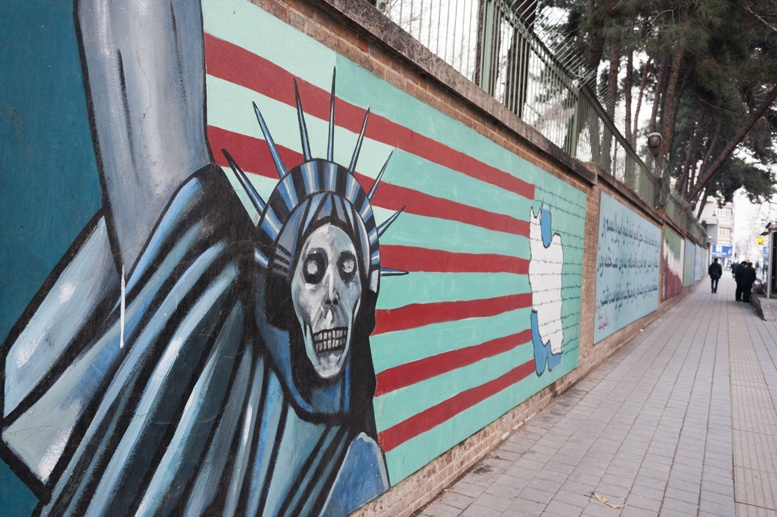 anti american graffiti tehran