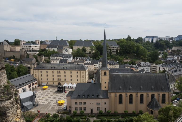 luxembourg city panorama from fortress 2