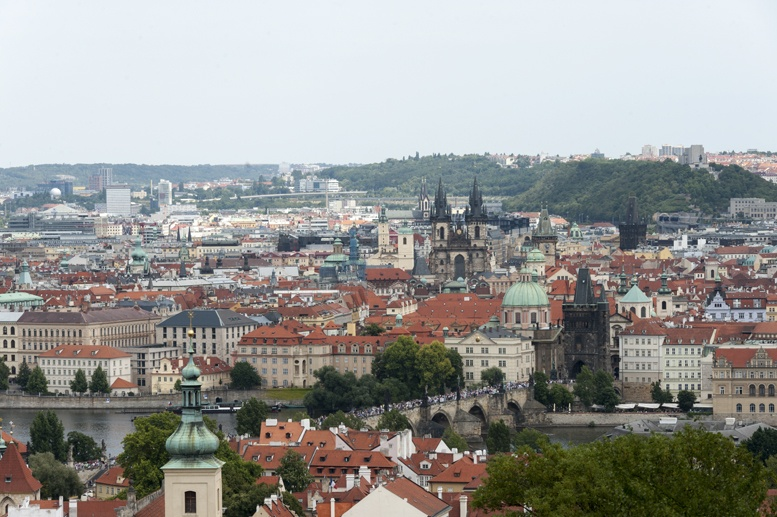prague view from Petrin Hill