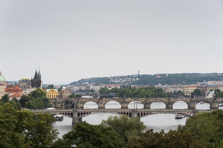 vltava view from letna prague