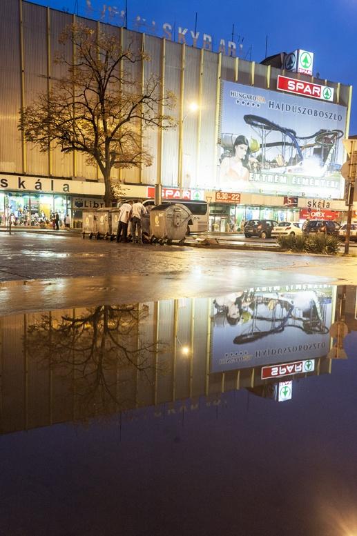 corvin budapest reflection