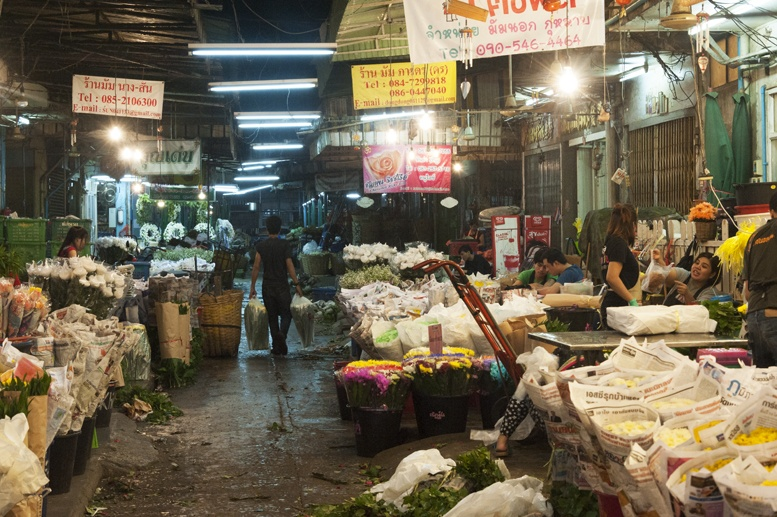 Bangkok night flower market