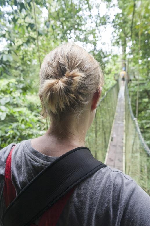 gunung mulu treetop walk girl
