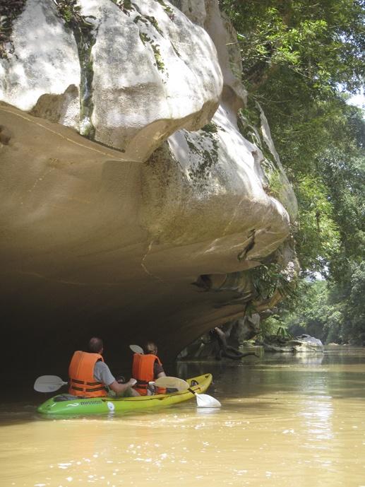 limestone sarawak borneo