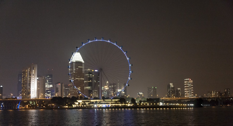 marina bay singapore night