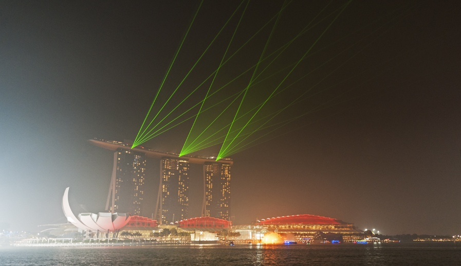 marina bay light show