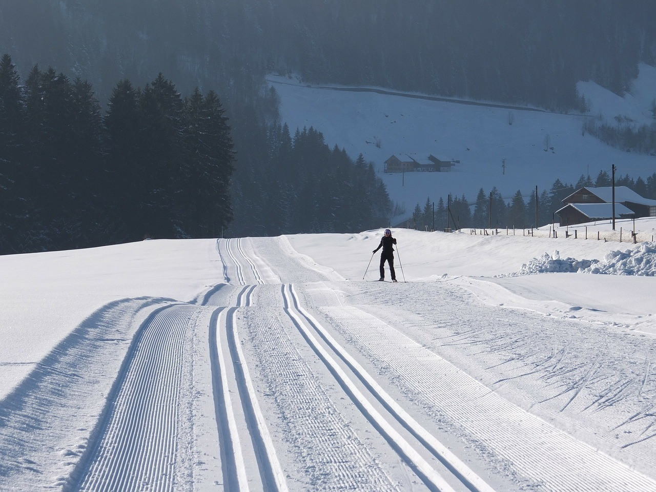 cross country skiing valmalenco lombardy