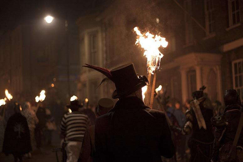 black hat flames