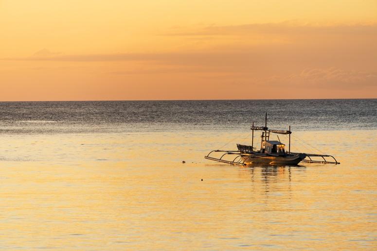 orange sunset bangka philippines