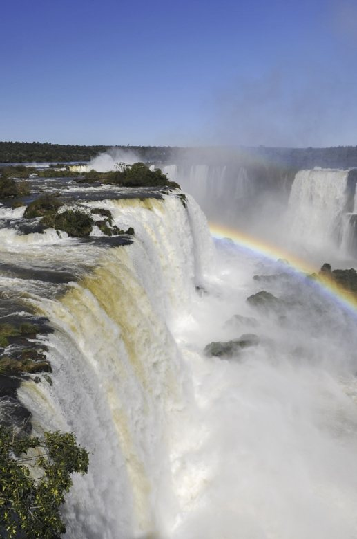 iguazu waterfall rainbows