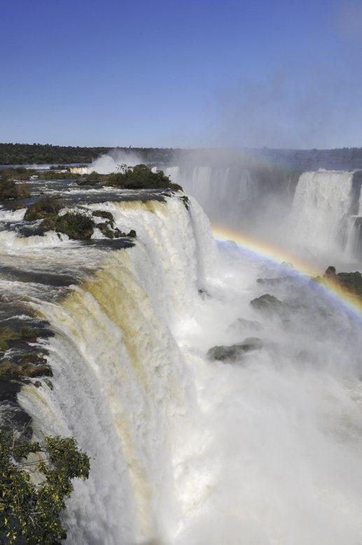 iguazu waterfall rainbows