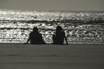 jericoacoara-couple-sunset