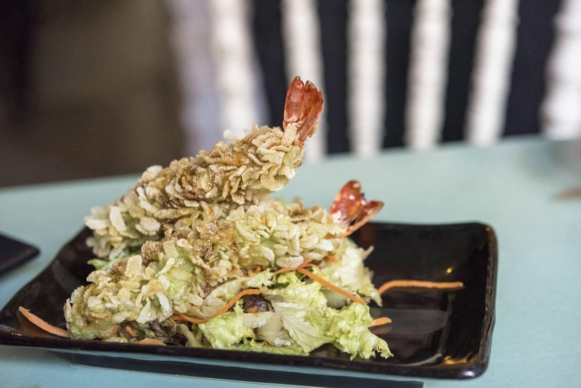 berlin wasabi cornflake prawns