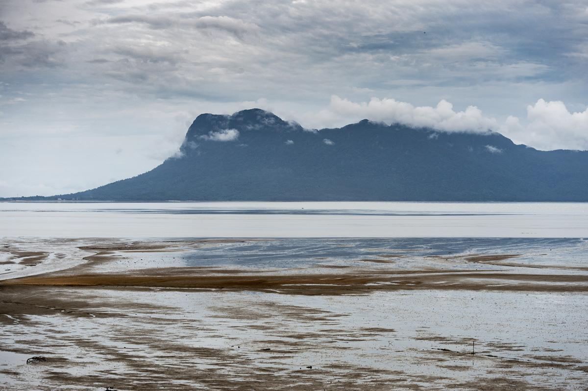 bako national park beach mountain