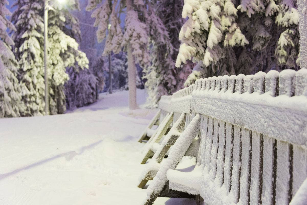 fence tahko finland skiing