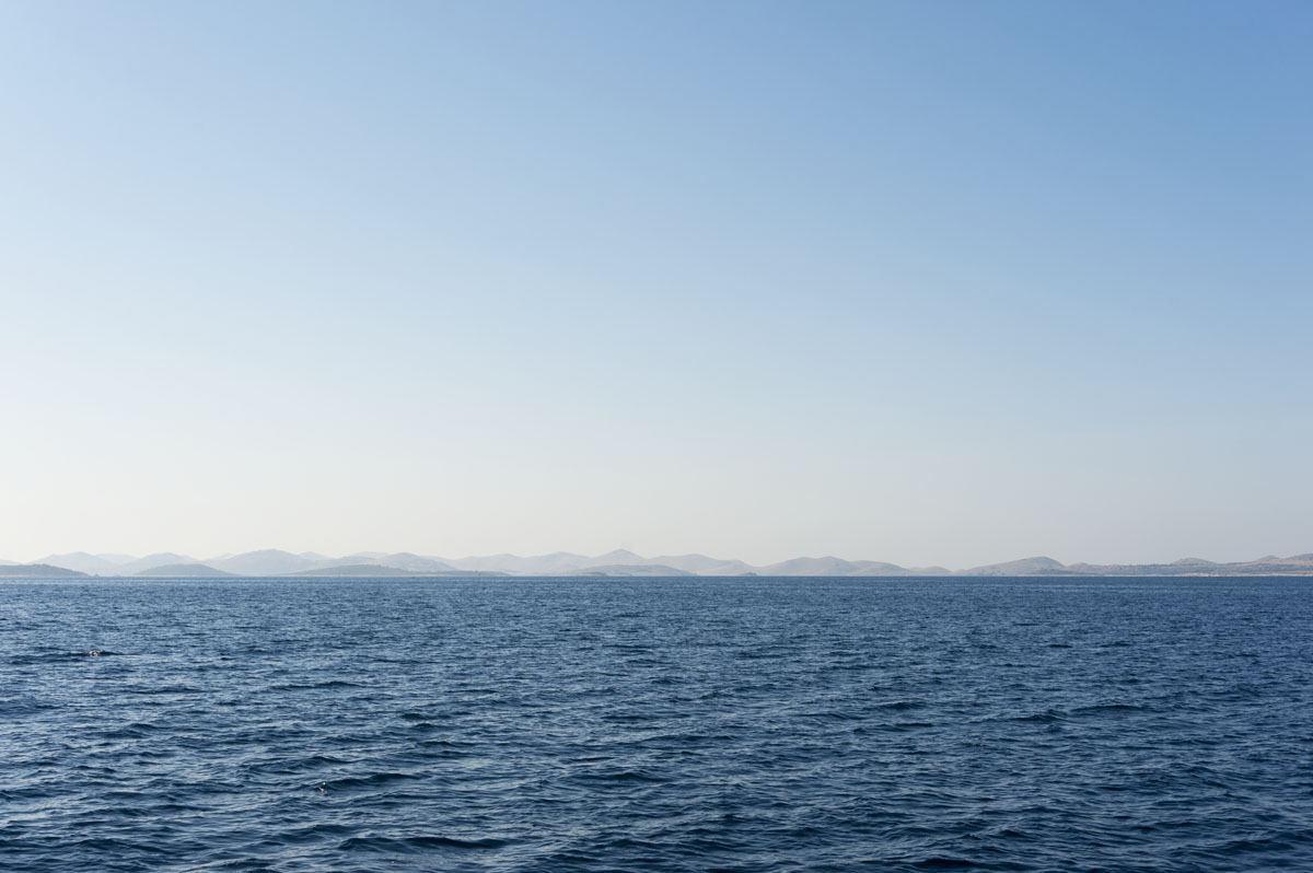 kornati islands croatia from afar
