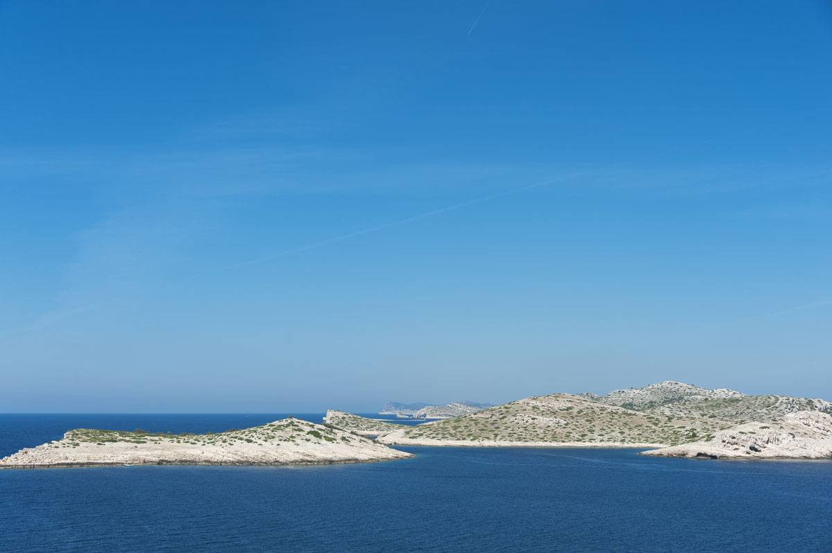 kornati islands croatia from above