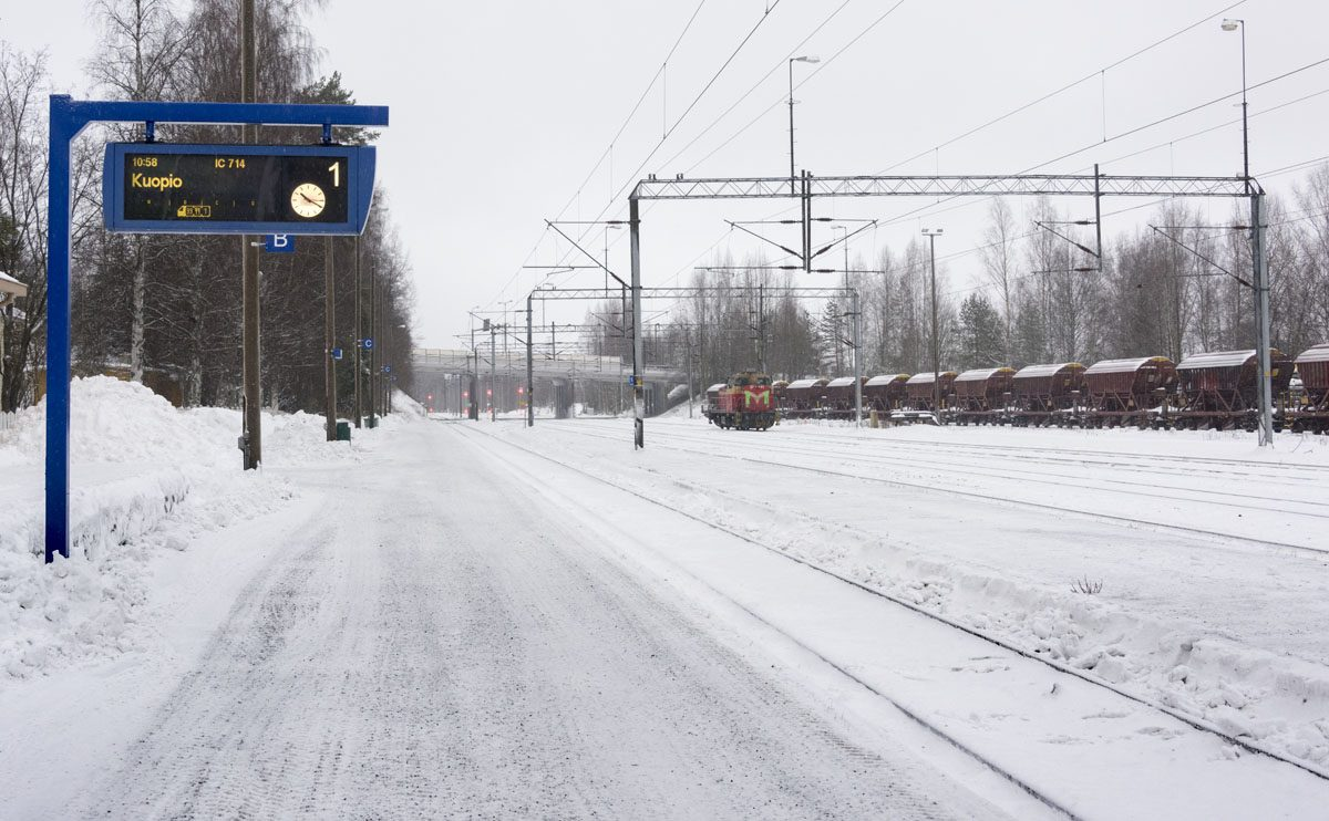 finland train winter kuopio