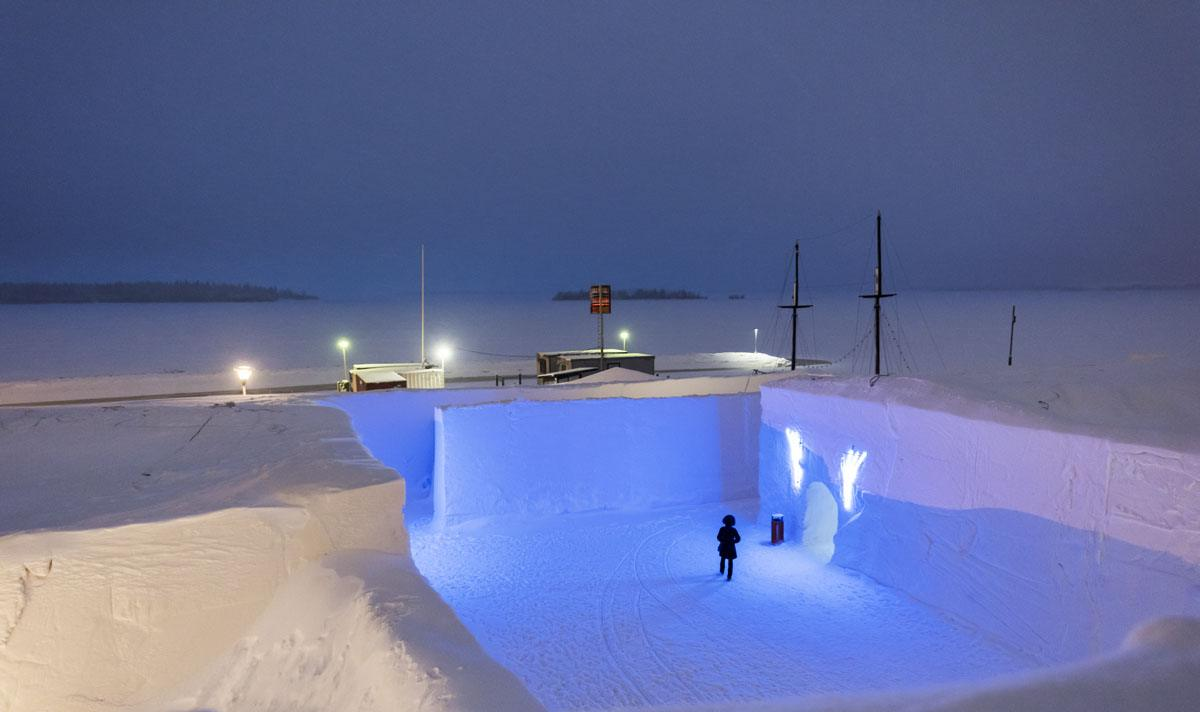 snow hotel kemi rooftop