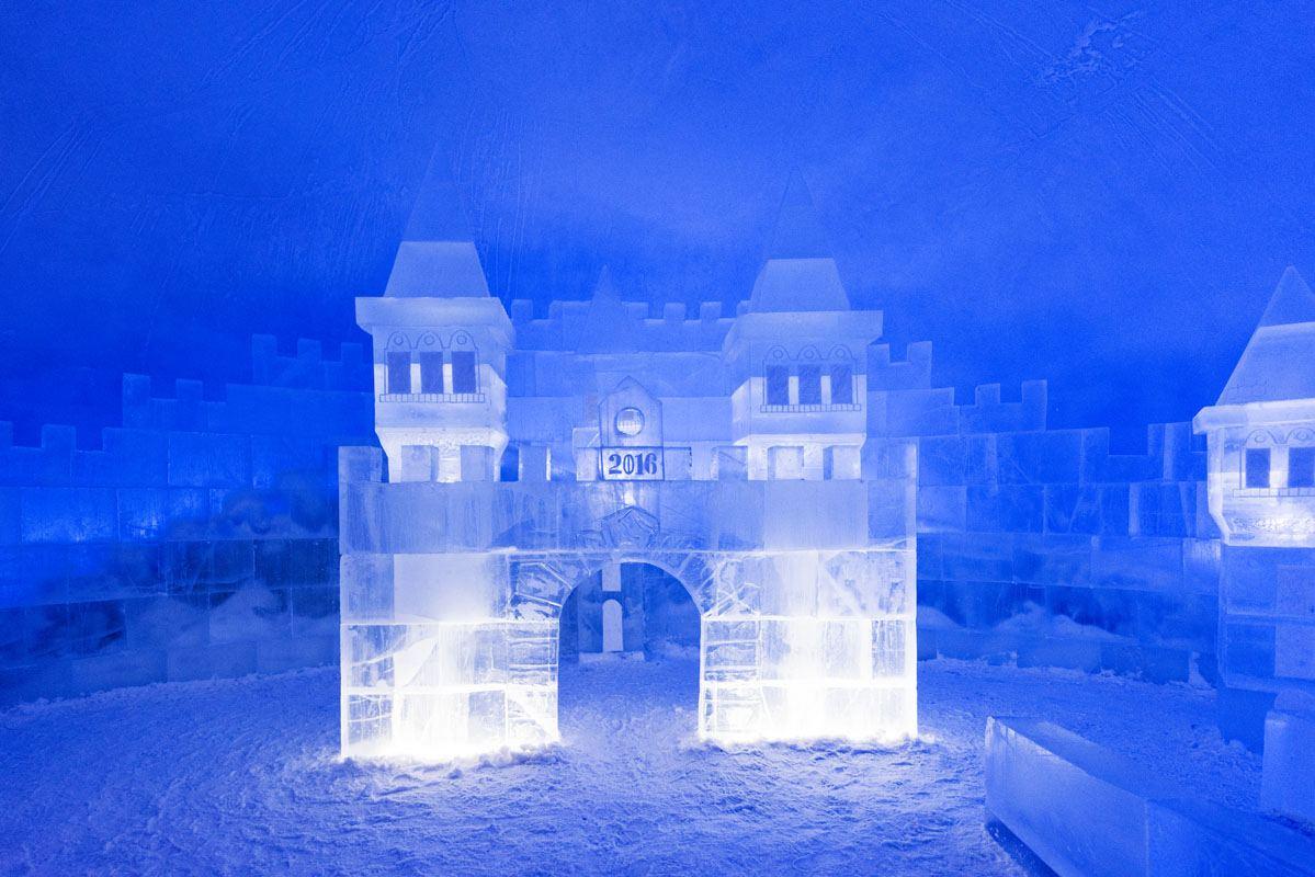 snow castle kemi blue ice