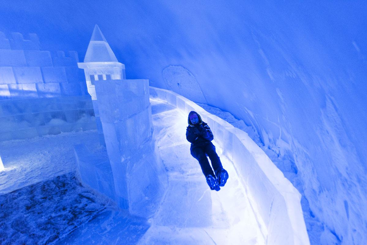 snow castle kemi slippery slide
