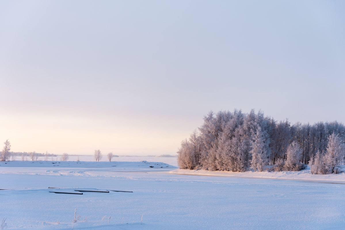 visit kemi finland winter pink sunset
