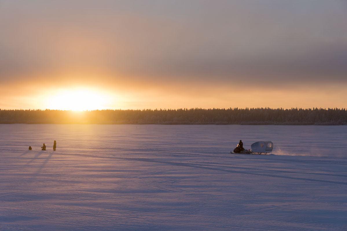 visit kemi finland winter orange sunset