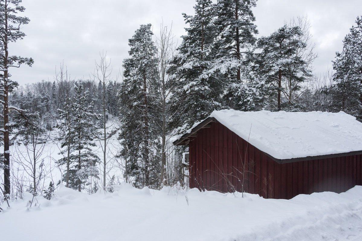 haltia espoo snowy hut
