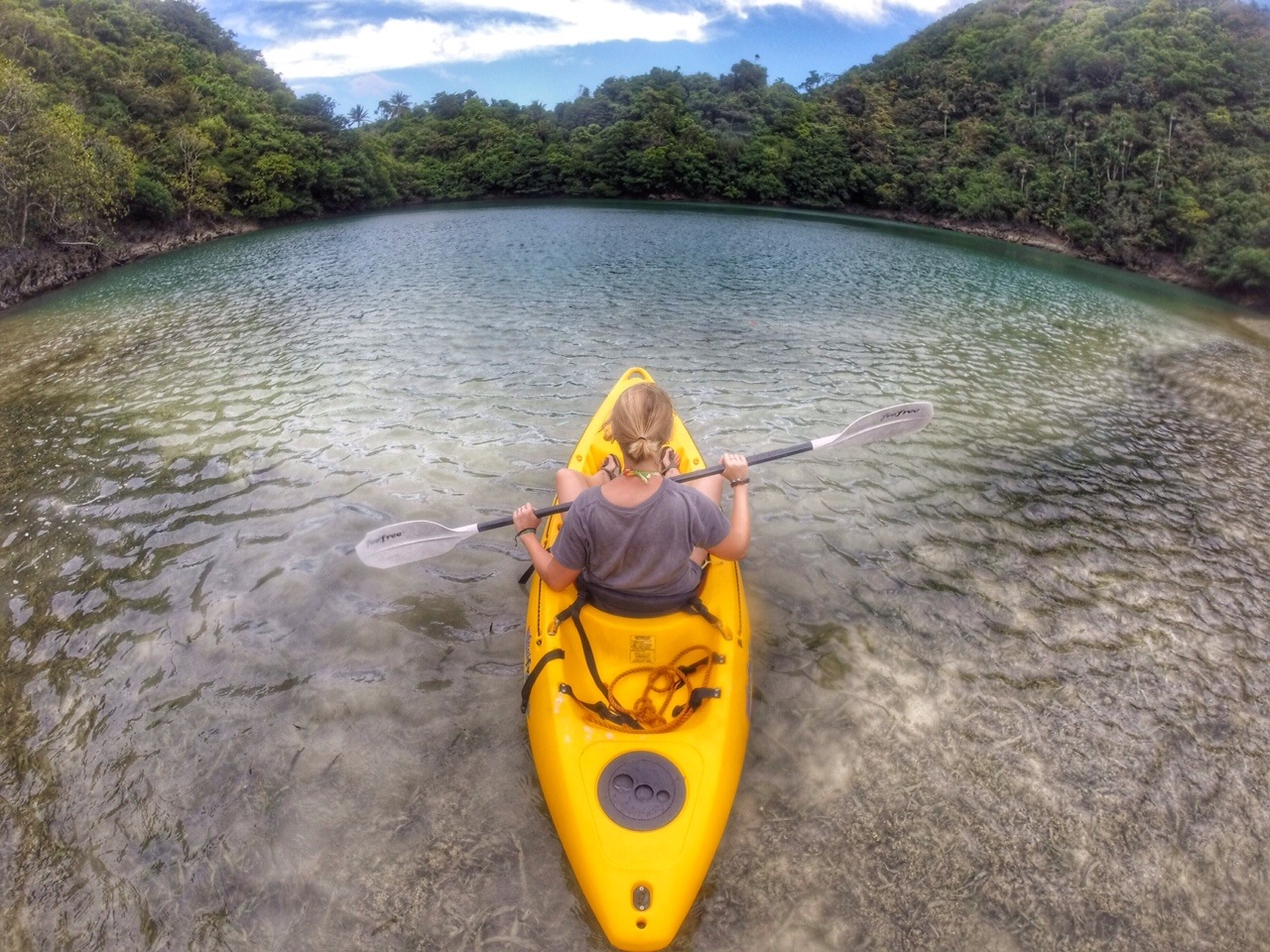 kayaking danjugan lagoon
