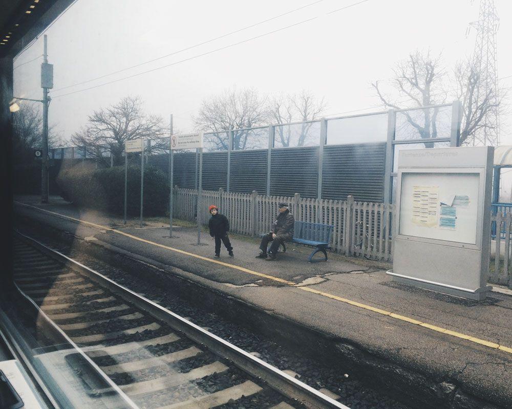 italian train station winter