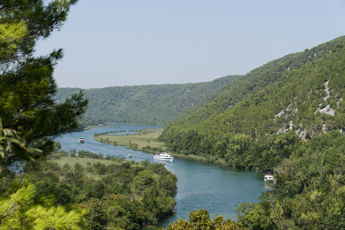 The Krka river from above croatia