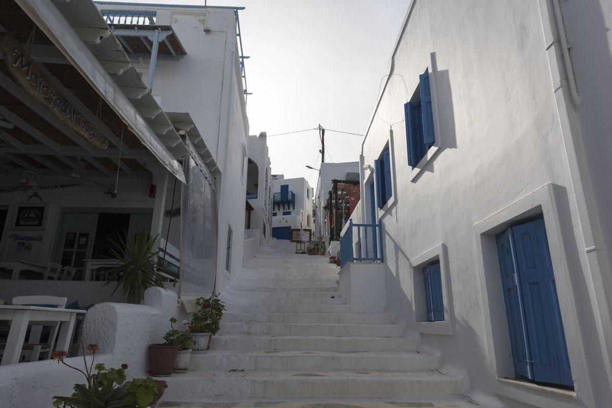 chora streets blue hour