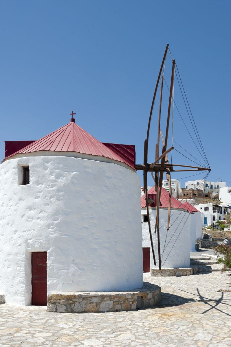 windmills greek islands