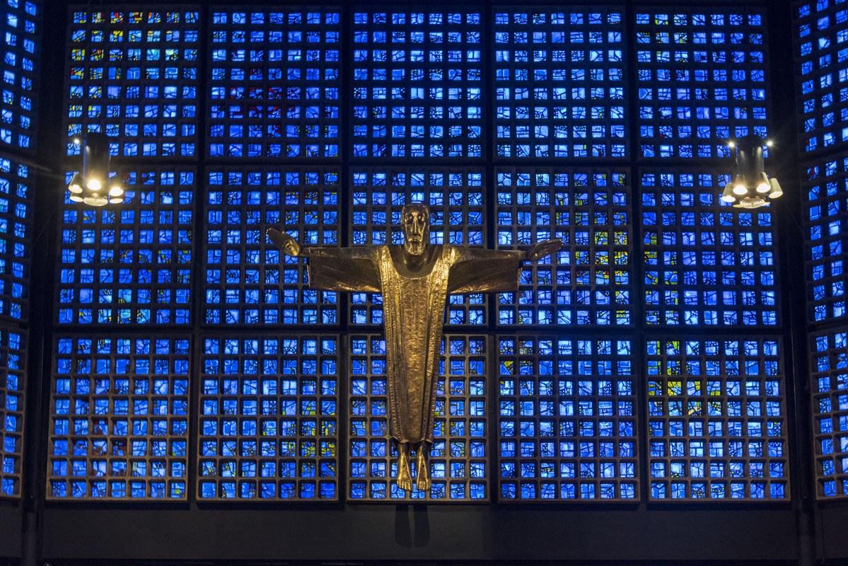 memorial church berlin new blue