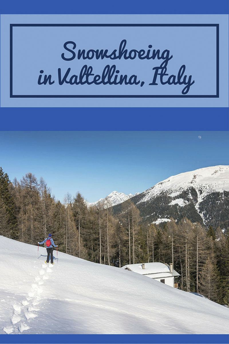 snowshoeing lombardy alps pin
