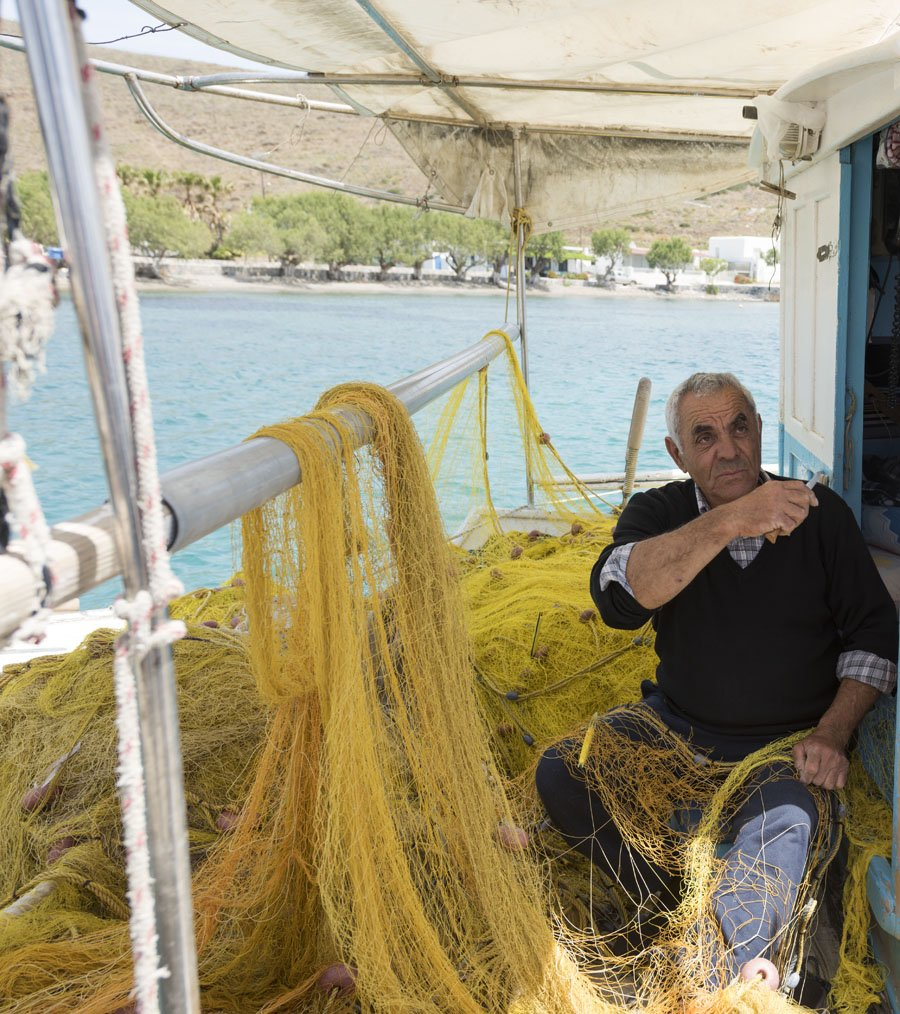 Astypalea greece fisherman