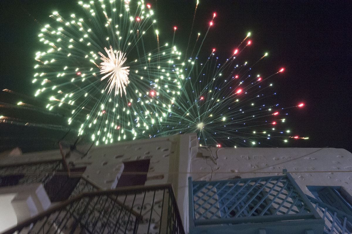 easter on a greek island fireworks