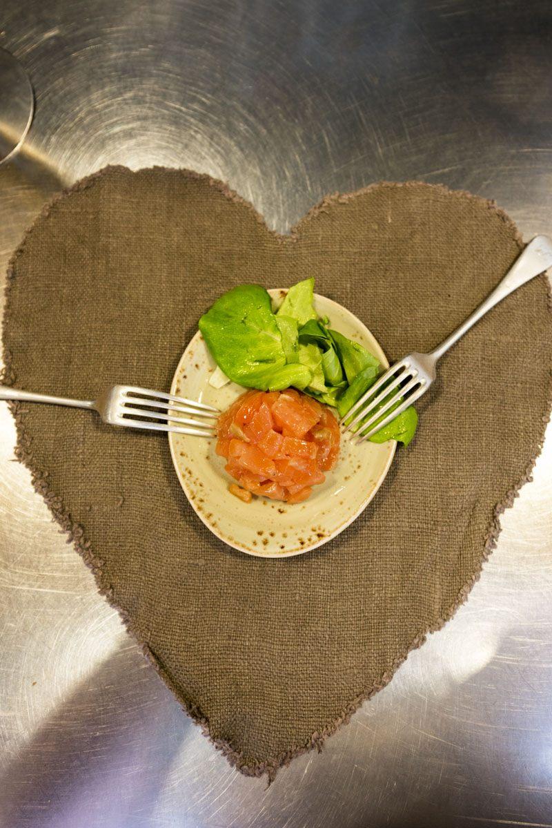 milan street food salmon tartare