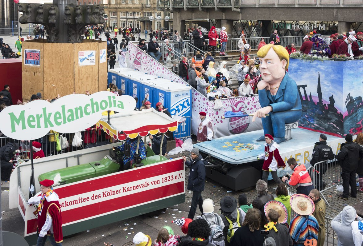We couldn't miss Frau Merkel's float!